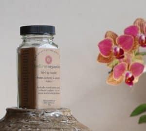 Talc-Free Organic Deodorizing Body Powder from Believe Organics   Made in USA
