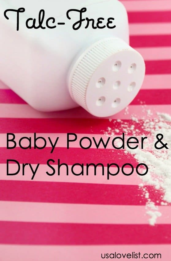 Vegan, gluten-, cruelty-, talc-free Baby Powder, Body Powder, and Dry Shampoo Safe Cosmetics Made in USA