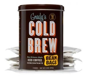 Cold brew coffee concentrate made easy. Grady's bean bags are made in Brooklyn.