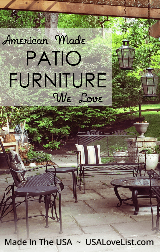 American Made Patio Furniture We Love Usa Love List