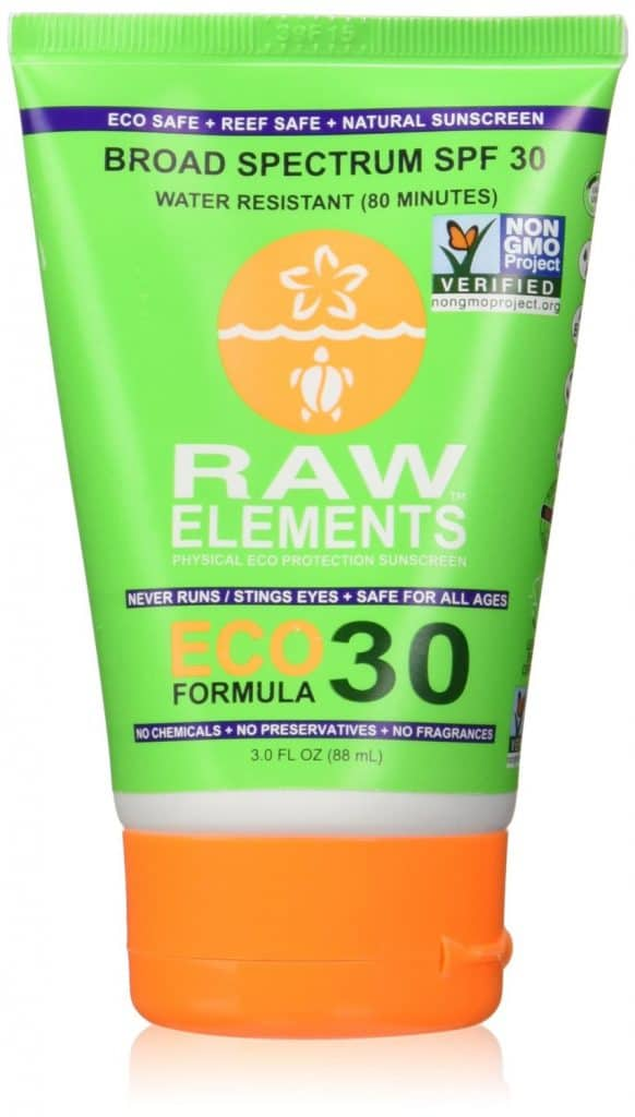 Non toxic sunscreens: RAW ELEMENTS USA SPF 30 Mineral Sunscreen #usalovelisted #nonGMO