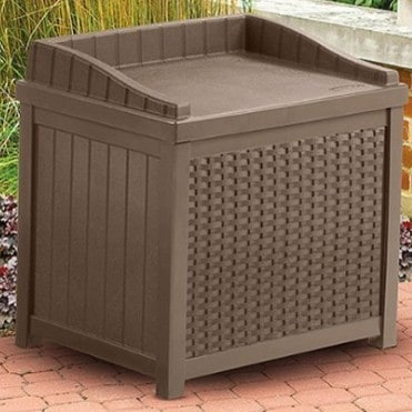 Patio furniture we love: Suncast patio storage | Made in USA #usalovelisted #garden #patio