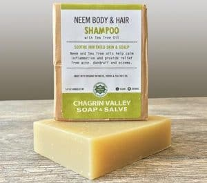 Chagrin Valley Soap Neem and Tea Tree Shampoo   Vegan, Cruelty-, Gluten-Free Soap   Made in Ohio   10 percent off with code LOVE