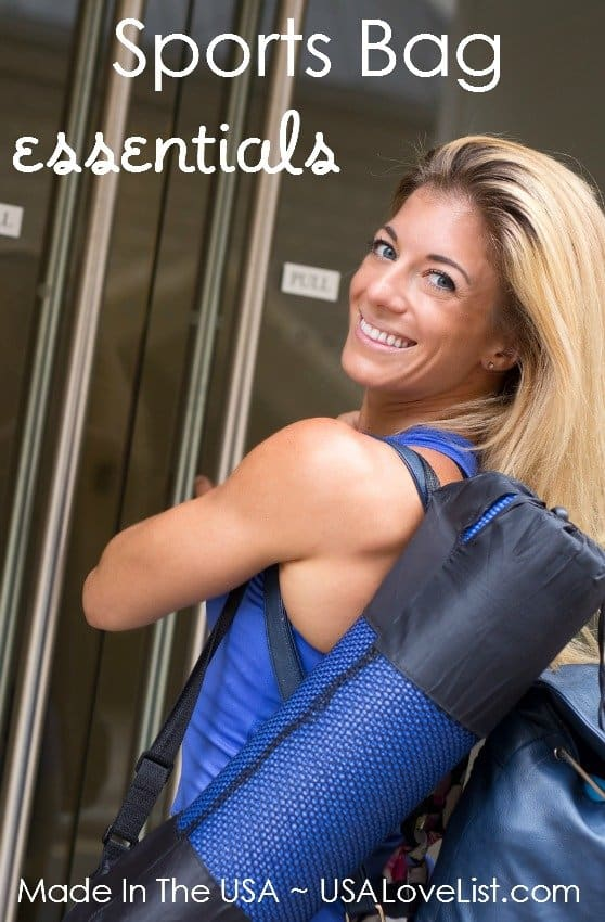 What's in your gym bag? Gym bag essentials #madeinUSA #usalovelisted #gymbag