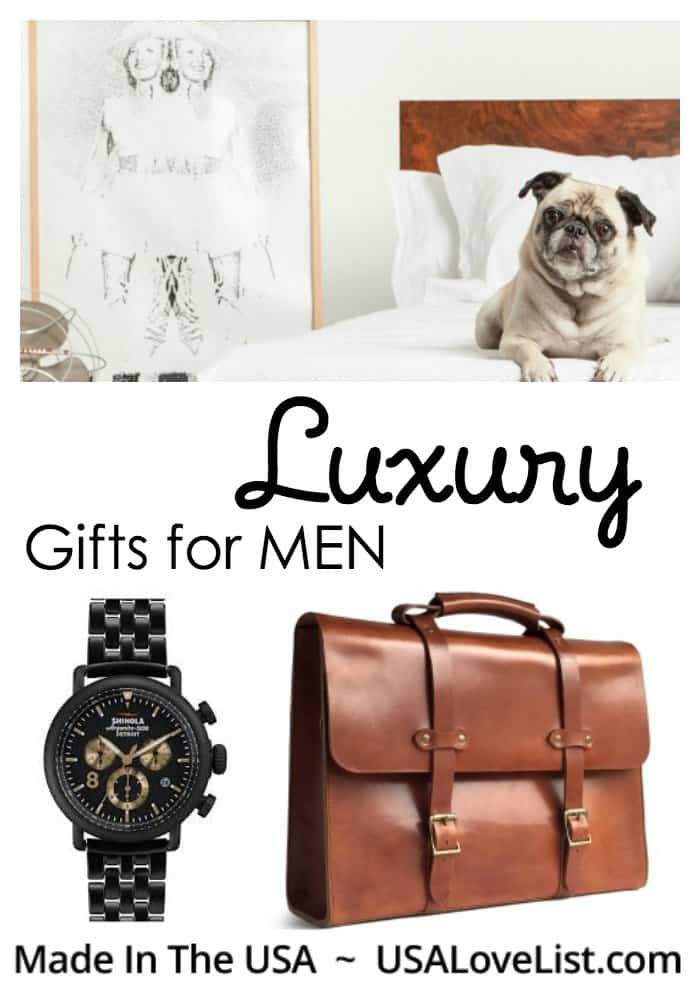 Luxury gifts for men made in the usa usa love list for Designer gifts for men