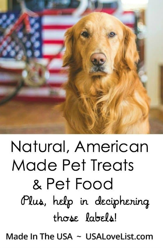 American Made natural pet food and treats