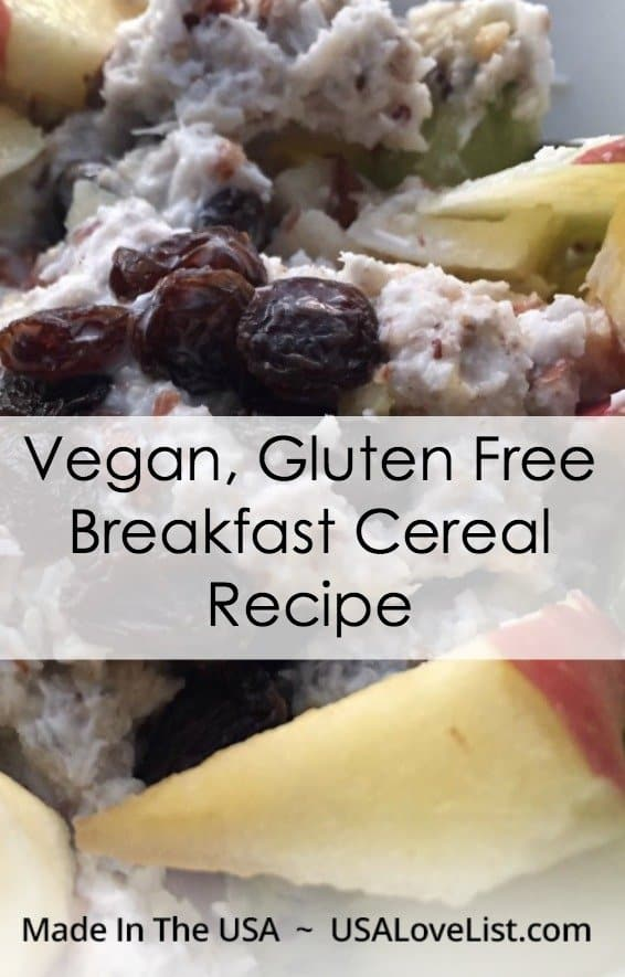 Vegan gluten free breakfast cereal recipe loaded with american made paleo whole30 compliant breakfast cereal recipe forumfinder Choice Image