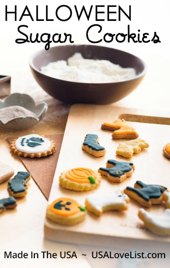 Halloween Sugar Cookies Recipe with made in USA Supplies