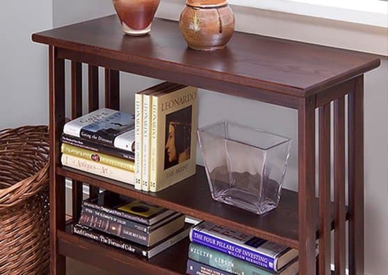 Manchester Wood Furniture best seller | Mission Underwindow Bookshelf