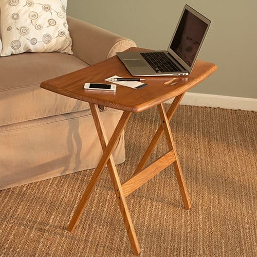 Work any where with Manchester Wood TV Tray Tables | Made in USA
