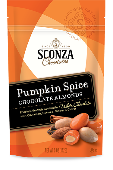 Sconza Chocolates Pumpkin Spice Chocolate Almonds