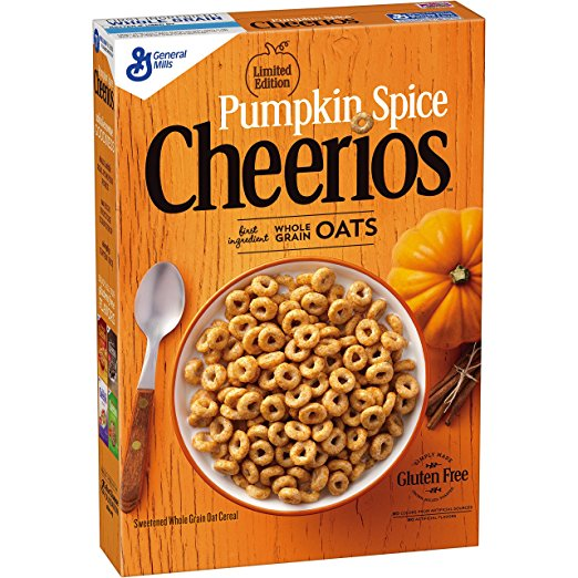 Pumpkin Spice Products Made in USA: Pumpkin Spice Cheerios #usalovelisted #pumpkinspice