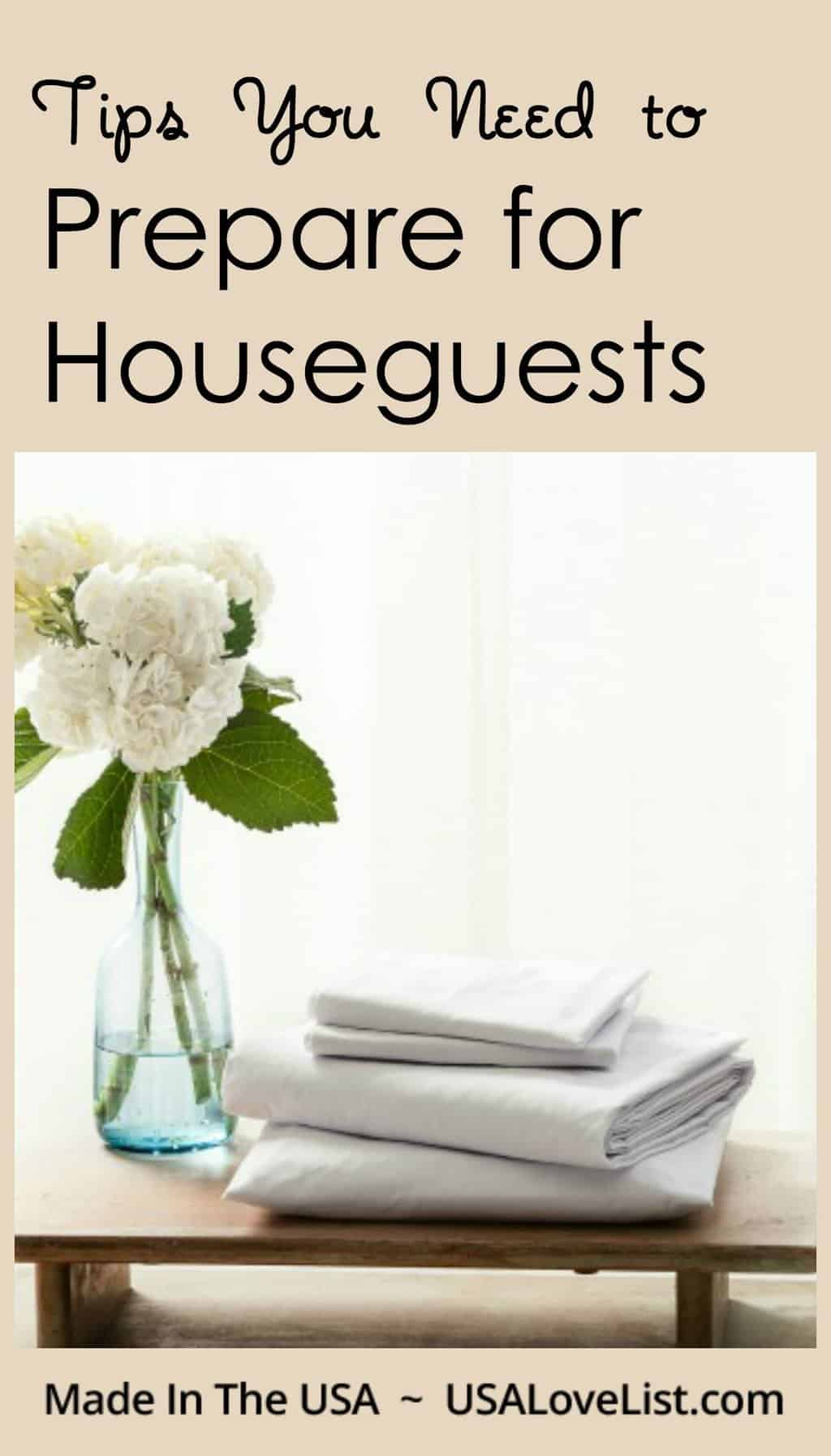Prepare for houseguests with these tips