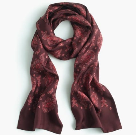 How to wear a scarf: Italian Silk scarf by JCrew | Made in USA #fashion #usalovelisted