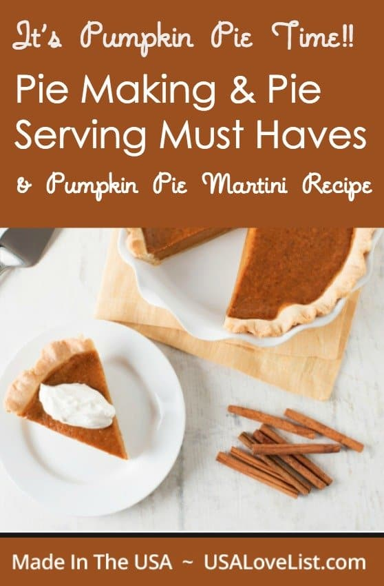 Thanksgiving Pumpkin Pie | Pie making and pie serving must haves | Pumpkin Pie Martini Recipe