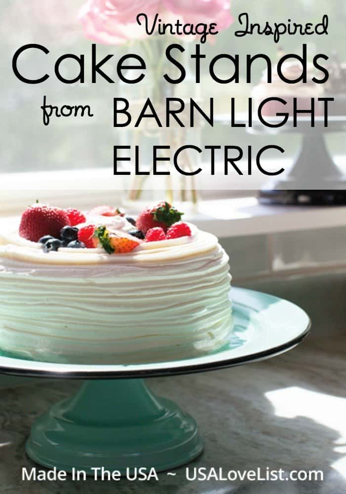 Barn Light Electric Vintage inspired cake stand | Handcrafted in the USA