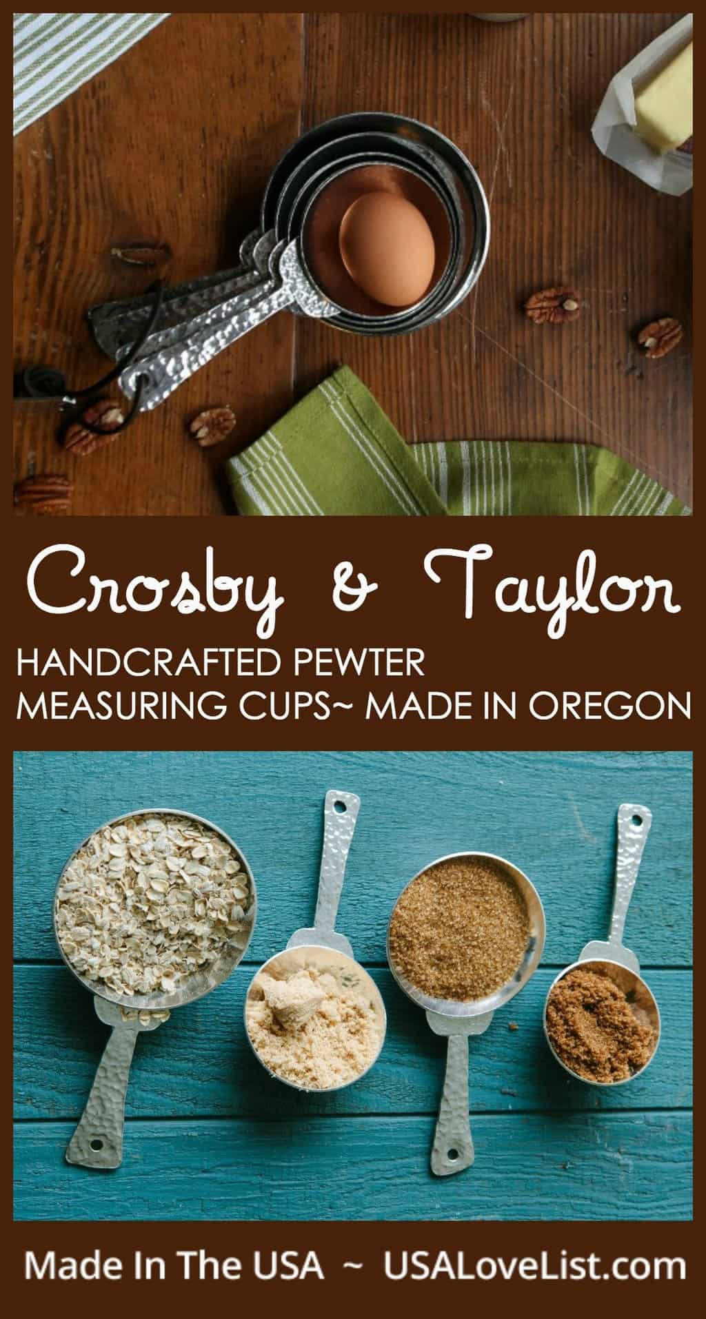Crosby & Taylor pewter measuring cups | Made in Oregon