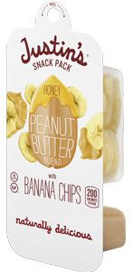 Gluten Free Snacks On-the-Go Justins Honey Peanut Butter and Banana Chips