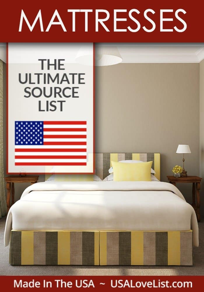 Buying a mattress: Mattresses made in USA Ultimate Source List