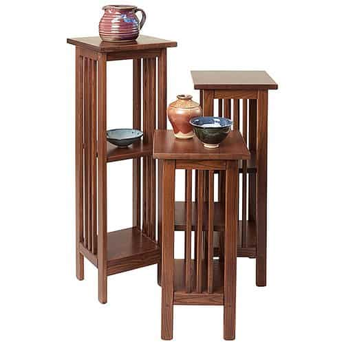 Mission Pedestal Stands By Manchester Wood | Made In USA Mission Furniture