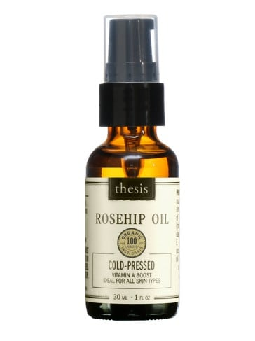 Vegan beauty products: Thesis Rosehip Oil facial serum #vegan #skincareproducts #madeinUSA #usalovelisted