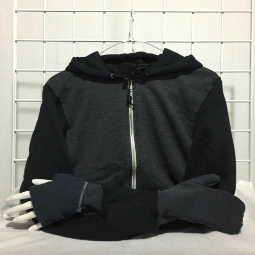 Awesome for runners!!! Hoodies with built in flip mittens by Turtle Gloves | Made in USA