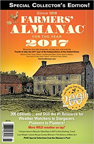 Farmers' Almanac made in Maine