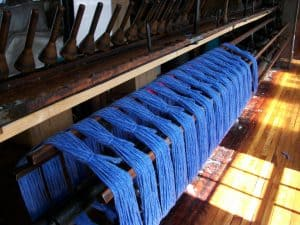 """America's Historical Yarn"" is Bartlettyarns! Bartlettyarns has been spinning yarn in the Village of Harmony, Maine since 1821 in what is today's oldest operating mule spinning mill."