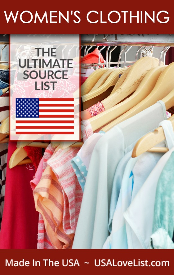 Save this list of made in the USA women's clothing! Constantly updated.