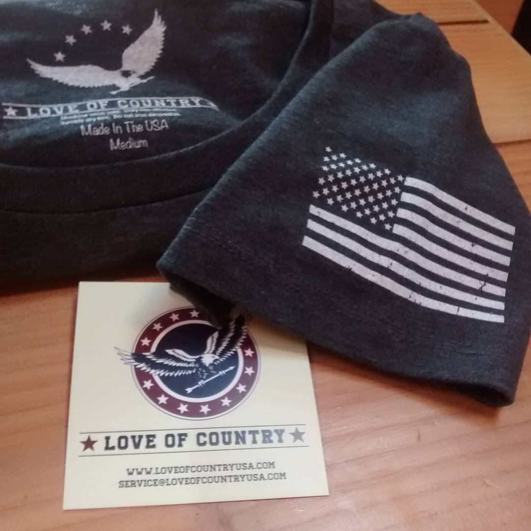 Love of Country patriotic T-shirts | Made in the USA