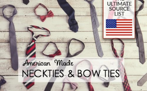 NECKTIES AND BOW TIES SOURCE LIST