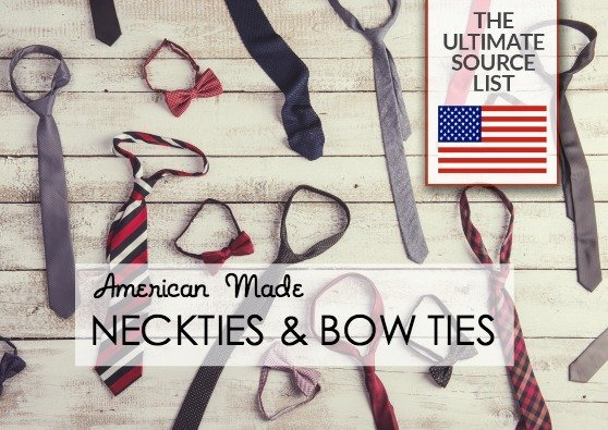 Made in USA Father's Day Gift Ideas: American made neckties and bow ties #usalovelisted