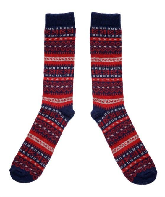 American Trench Ladies Fair Isles socks, knit in PA