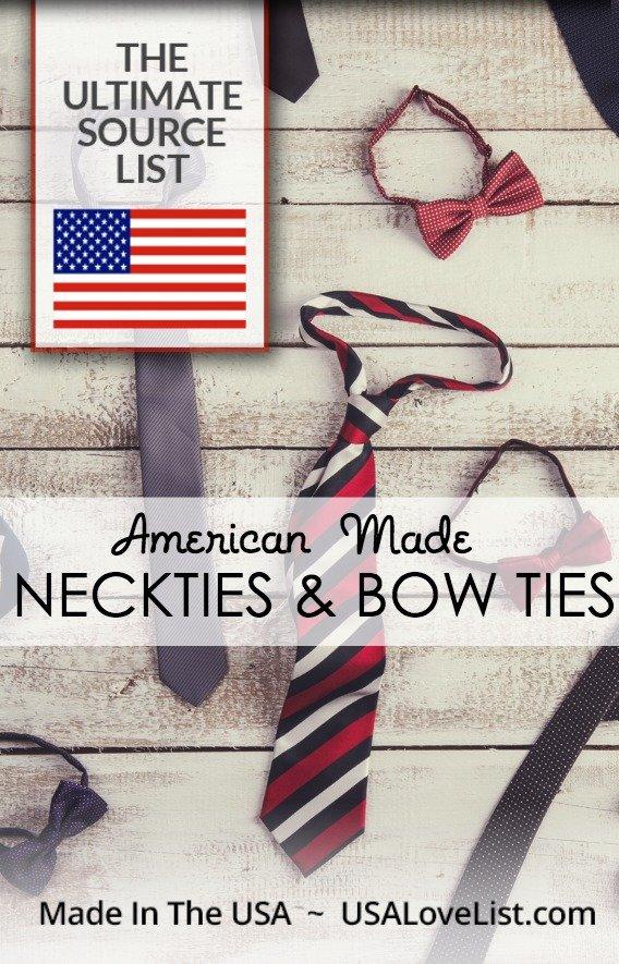 Made in USA Mens' Ties via USAlovelist.com #USAlovelisted