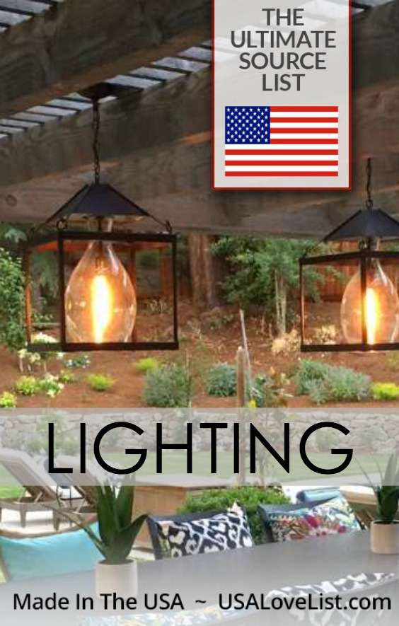 Indoor lighting, outdoor lighting, all American made | Featuring Lanternland handcrafted fixtures #AmericanMade #lighting #patiolighting