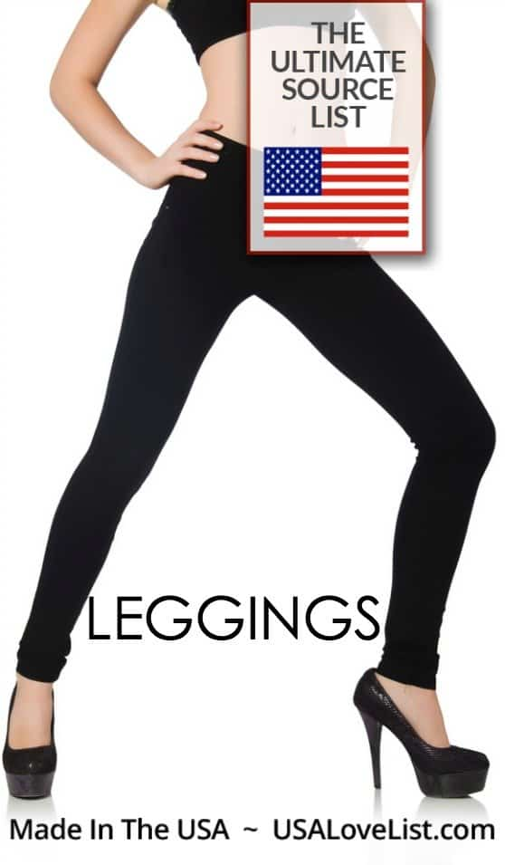 Pin for later! Links to the best American made leggings! Made in USA clothing