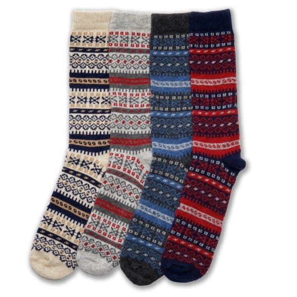 Ladies Fair Isle Socks in Cashmere and Merino | Knit in Pennsylvania