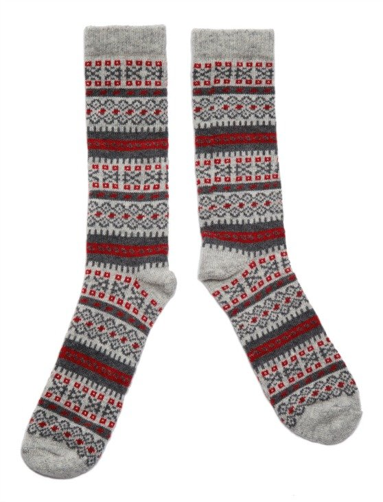 Ladies Fair Isle socks by American Trench made in USA