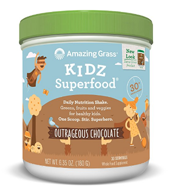 Best Vitamins for kids: Amazing Grass Kidz Superfoods #vitamins #kids #organic #usalovelisted