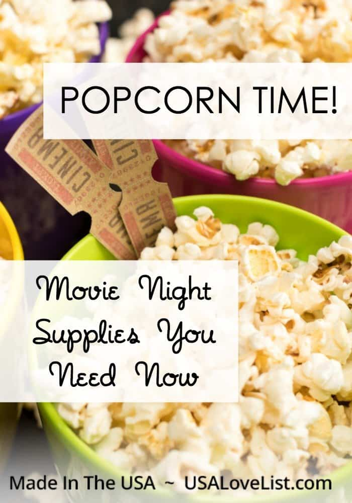 Popcorn Time! Movie night supplies you need