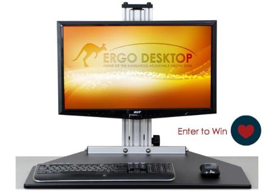 Enter to Win an Adjustable Height Desk by Ergo Desktop
