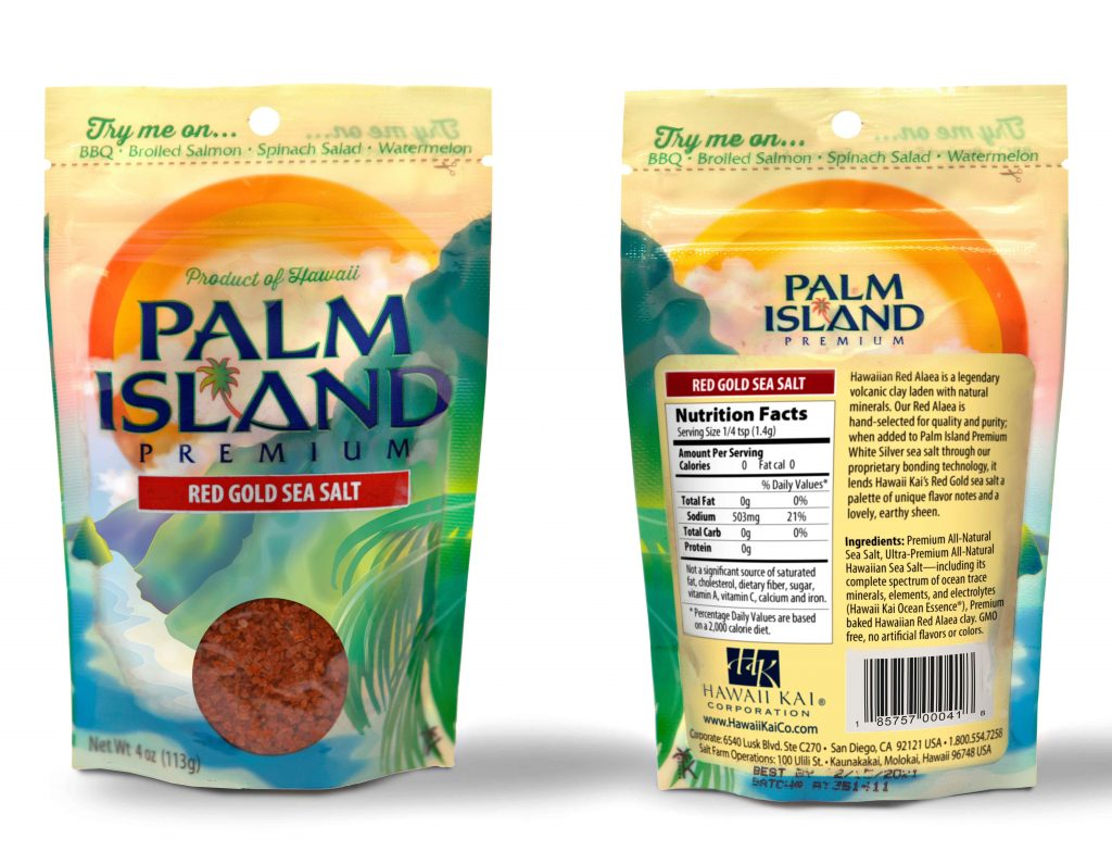 Gifts for the foodie: Palm Island Red Gold Sea Salt - Harvested in Hawaii
