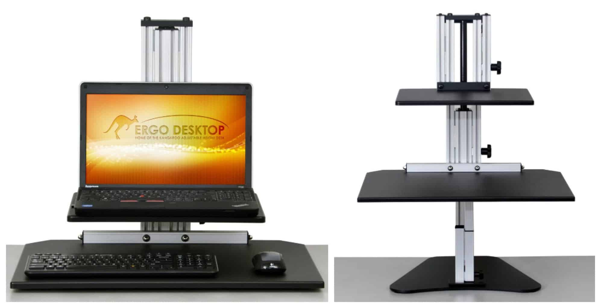 Kangaroo Junior Ergo Desktop adjustable height computer