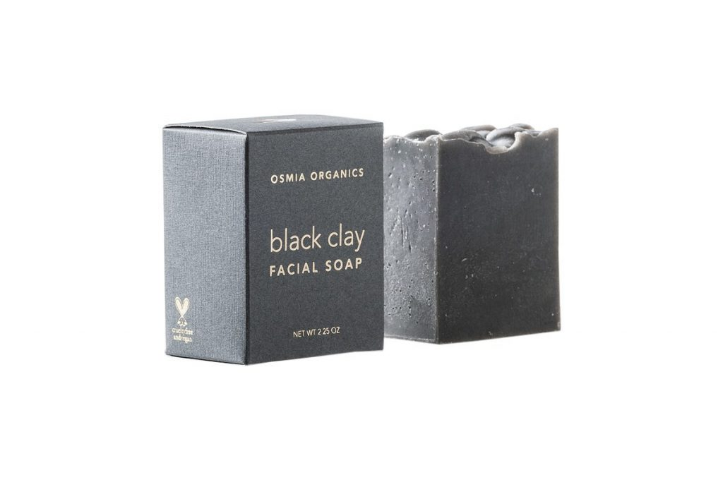 Osmia Organics Black Clay Facial Soap - Great for Oily Skin and Traveling
