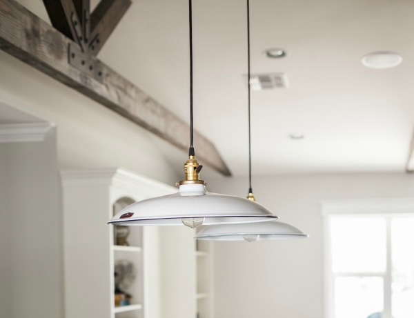 "Barn Light Electric Ivanhoe® Sinclair Porcelain Pendant -- (shown in White, 12"" shade, standard black cord) #MadeinUSA #lighting #usalovelsited"