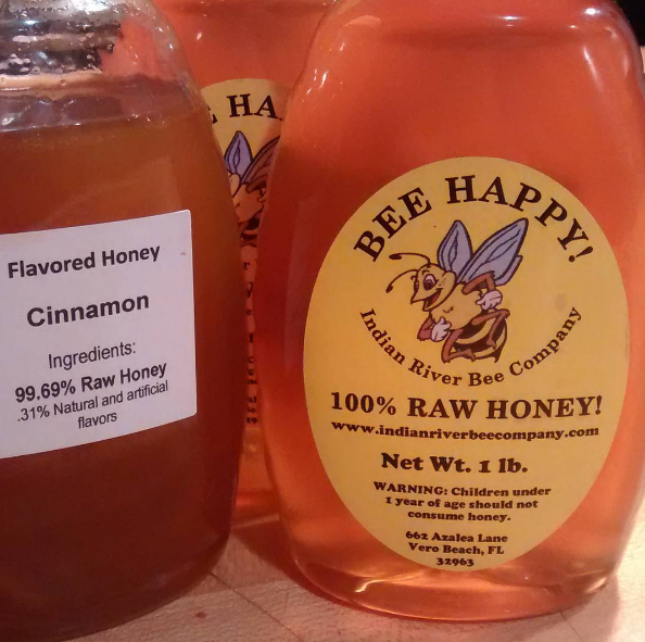 Indian River Bee Company Raw Honey and flavored Raw Honey