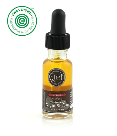 Qet Botanicals Restoring Night Serum is perfect for skin in need of extra nourishment or moisture