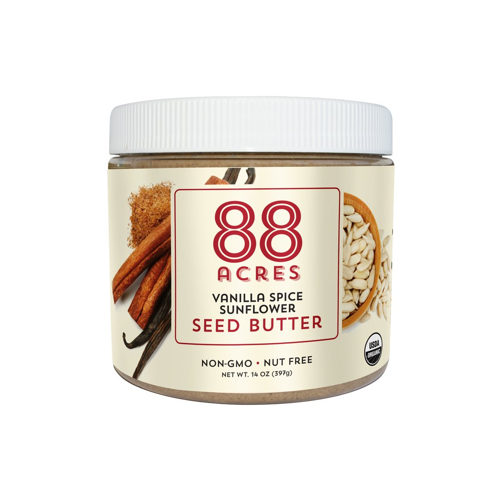 88 Acres Nut Free Vanilla Spice Seed Butter - Made in USA