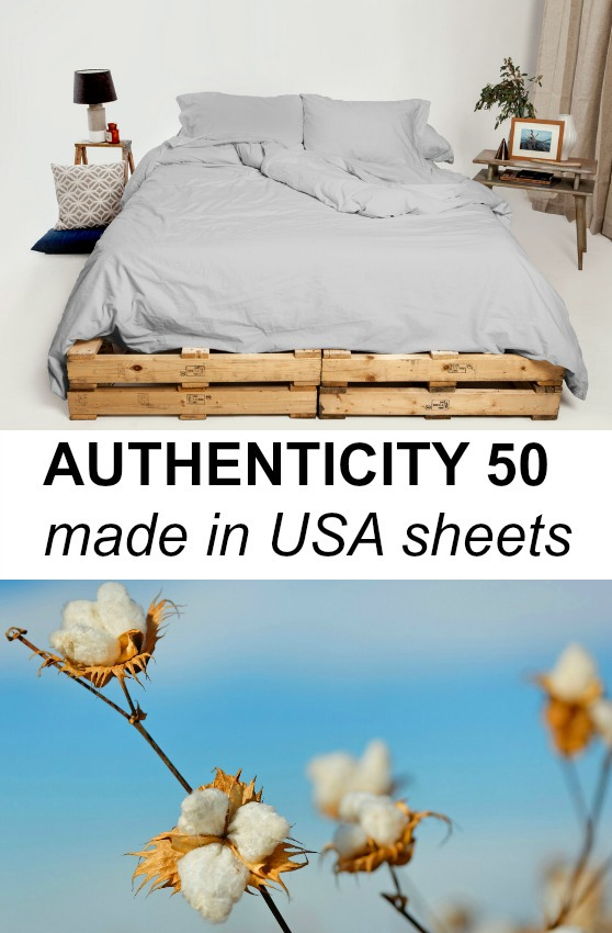 Authenticity 50 - Made in USA, Formaldehyde-Free Sheets