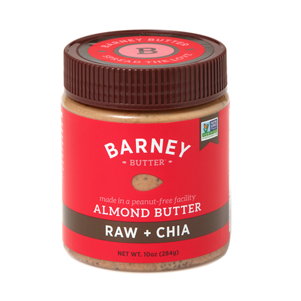 Barney Butter Raw and Chia Almond Butter - Paleo Friendly and Peanut Free